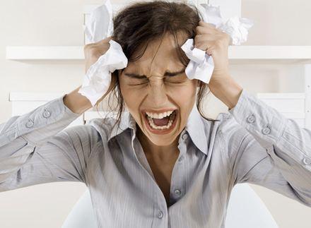 Stres źle wpływa na trawienie.